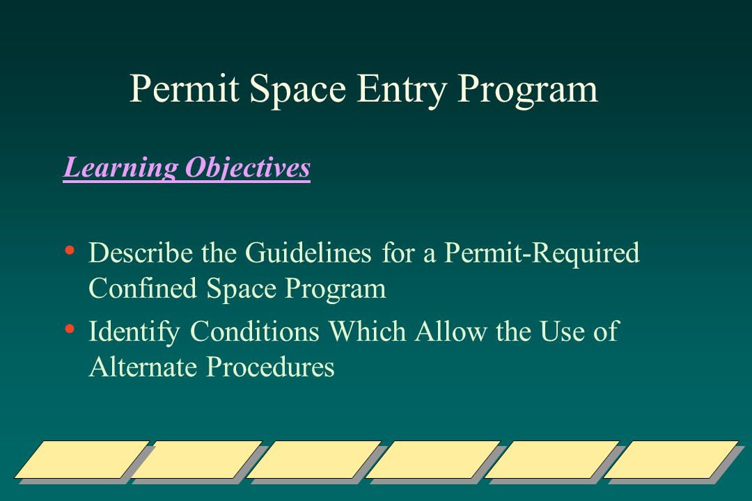 Permit Space Entry Program