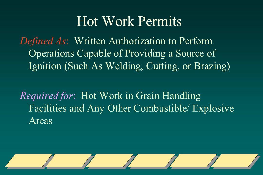 Hot Work Permits
