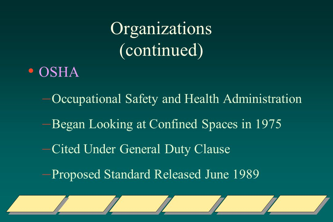 Organizations (continued)