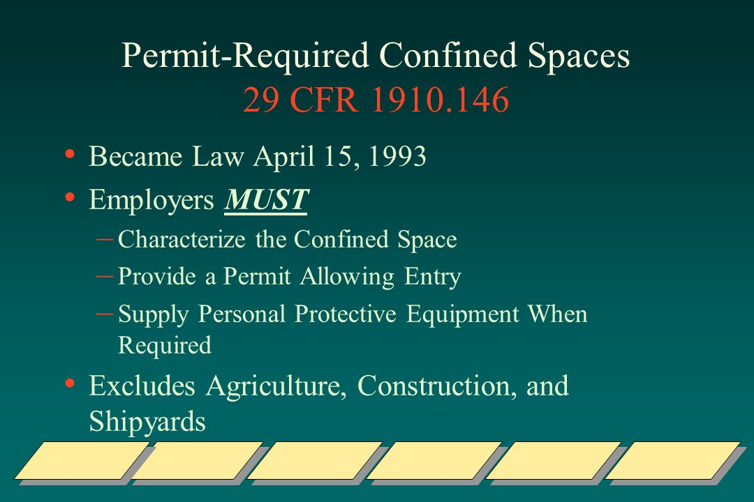 Permit-Required Confined Spaces 29 CFR