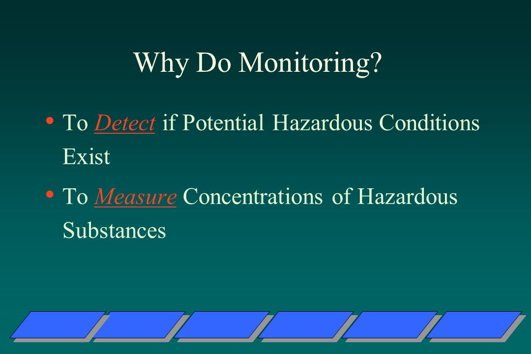 Why Do Monitoring To Detect if Potential Hazardous Conditions Exist