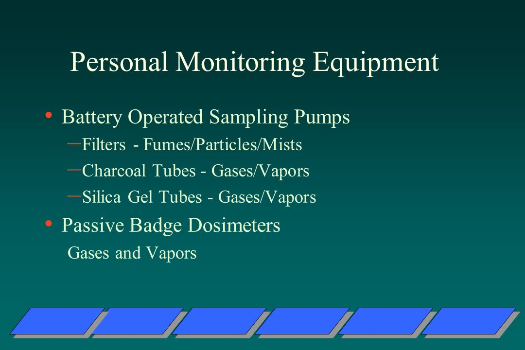 Personal Monitoring Equipment