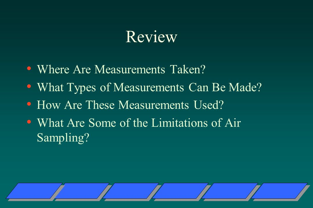 Review Where Are Measurements Taken