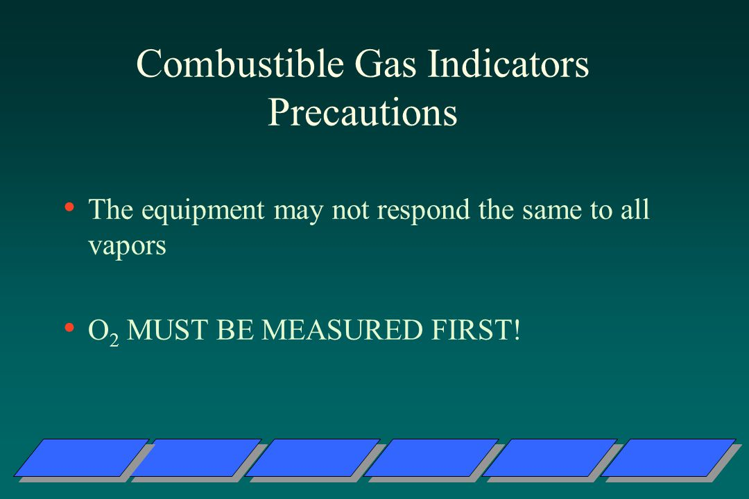 Combustible Gas Indicators Precautions