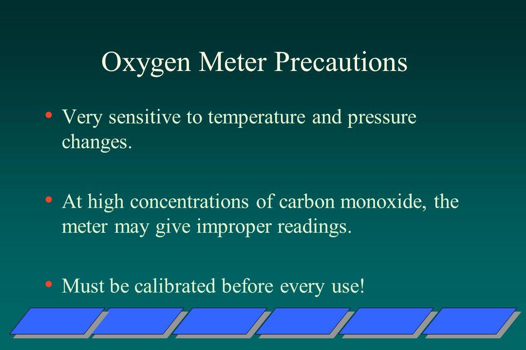 Oxygen Meter Precautions