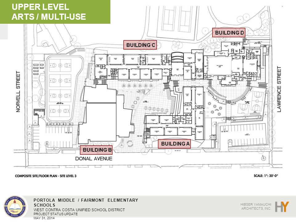 UPPER LEVEL ARTS / MULTI-USE BUILDING D BUILDING C BUILDING A