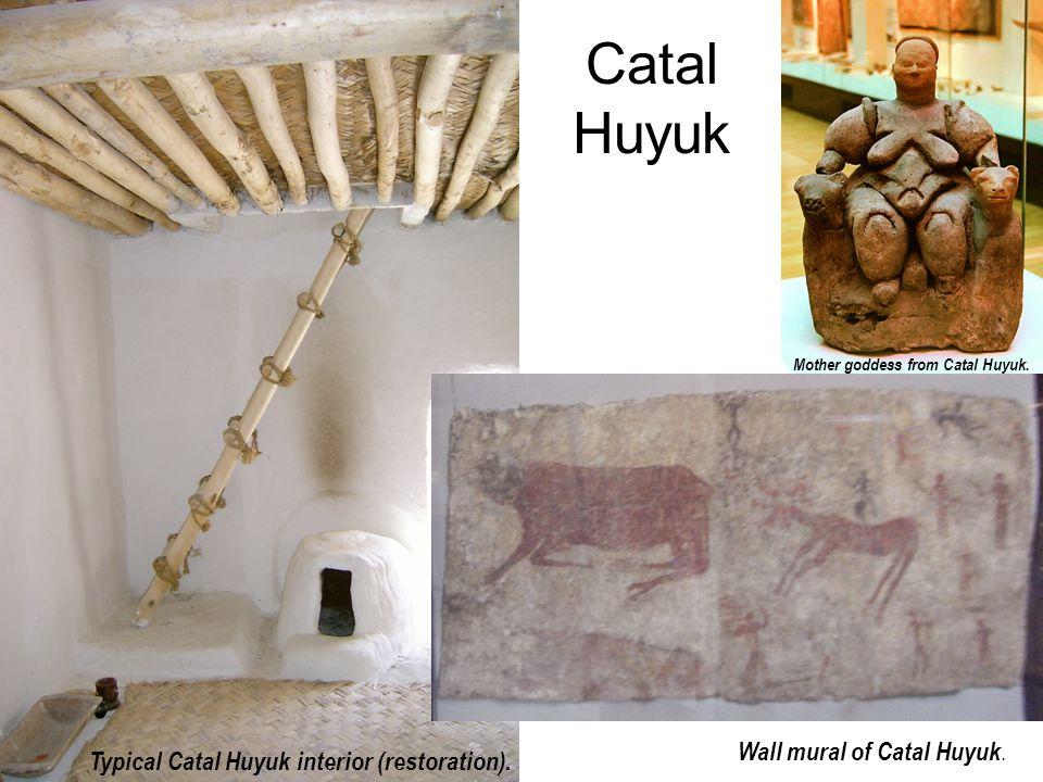 Catal Huyuk Wall mural of Catal Huyuk.