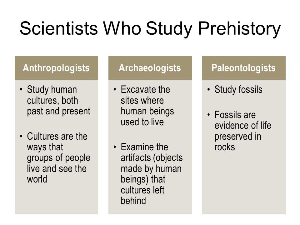Scientists Who Study Prehistory