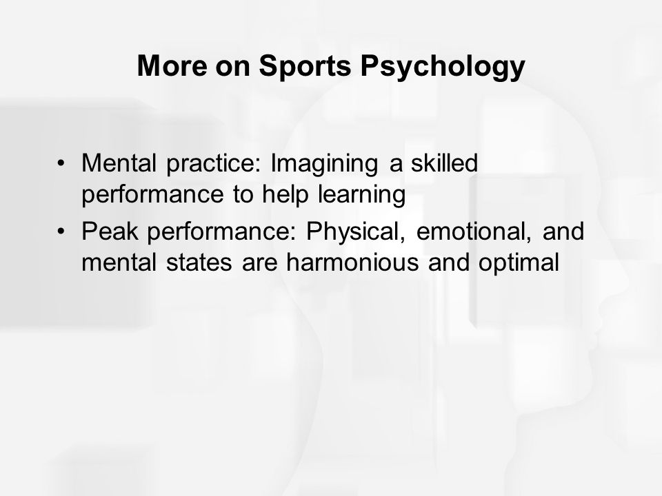 More on Sports Psychology