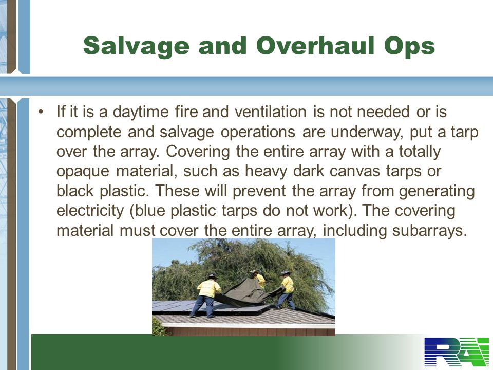 Salvage and Overhaul Ops