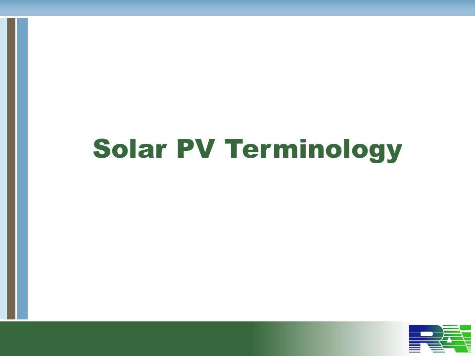 Solar PV Terminology