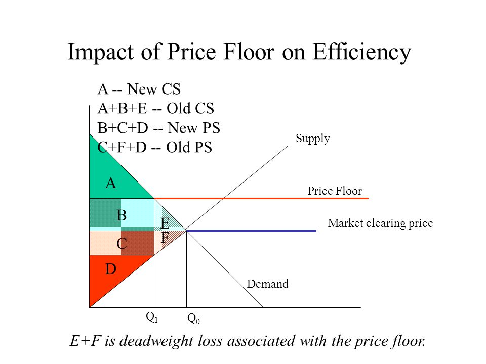 Impact of Price Floor on Efficiency