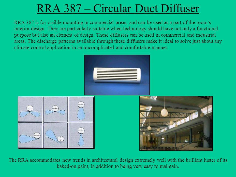 RRA 387 – Circular Duct Diffuser