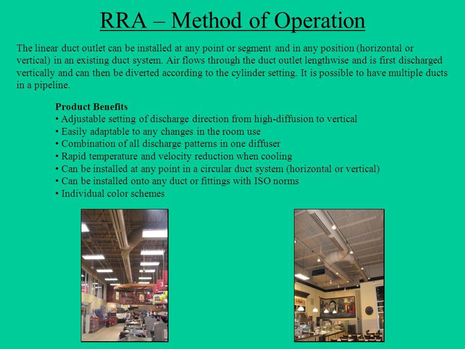 RRA – Method of Operation