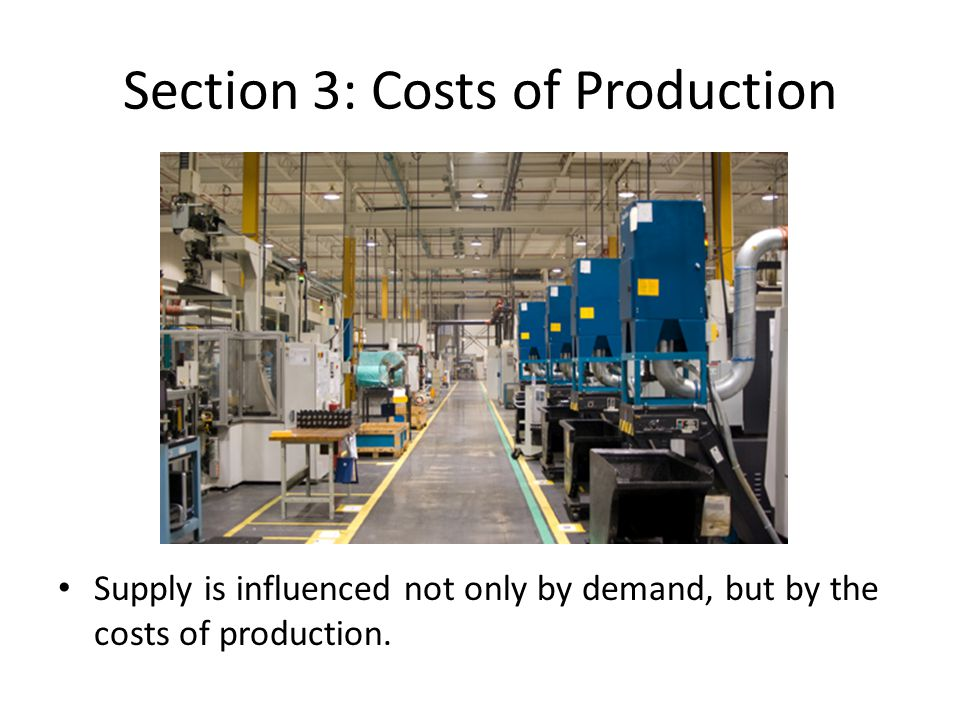 Section 3: Costs of Production