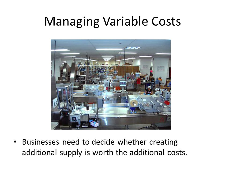 Managing Variable Costs