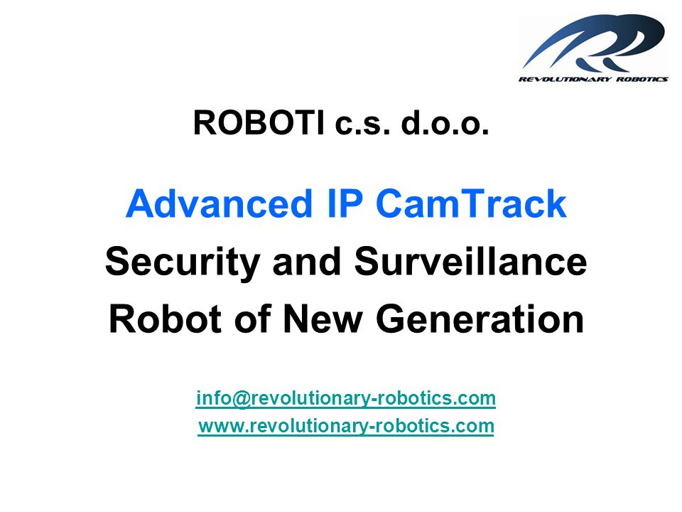 Security and Surveillance Robot of New Generation