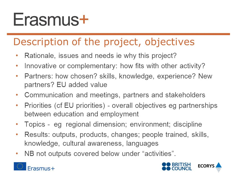 Description of the project, objectives