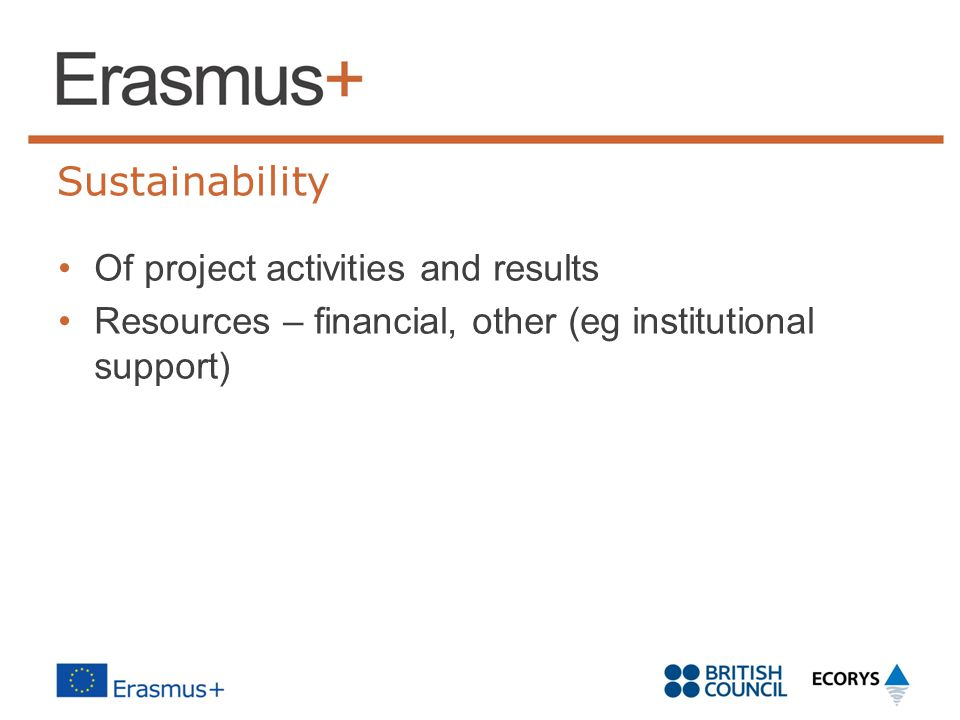 Sustainability Of project activities and results