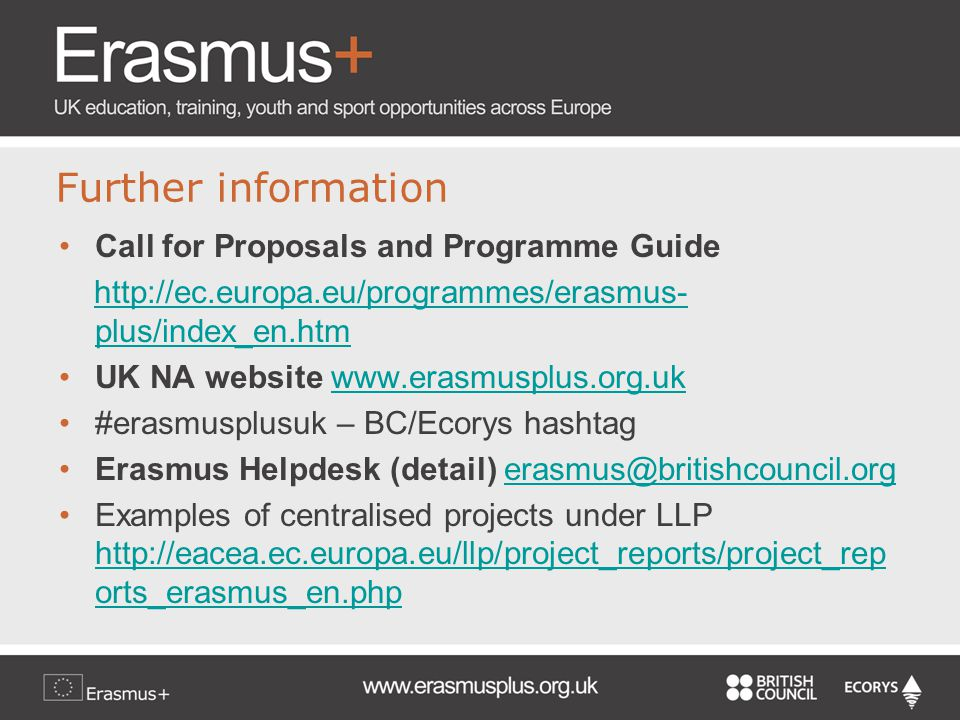 Further information Call for Proposals and Programme Guide