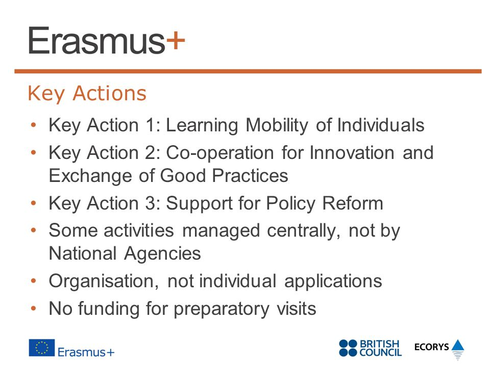 Key Actions Key Action 1: Learning Mobility of Individuals