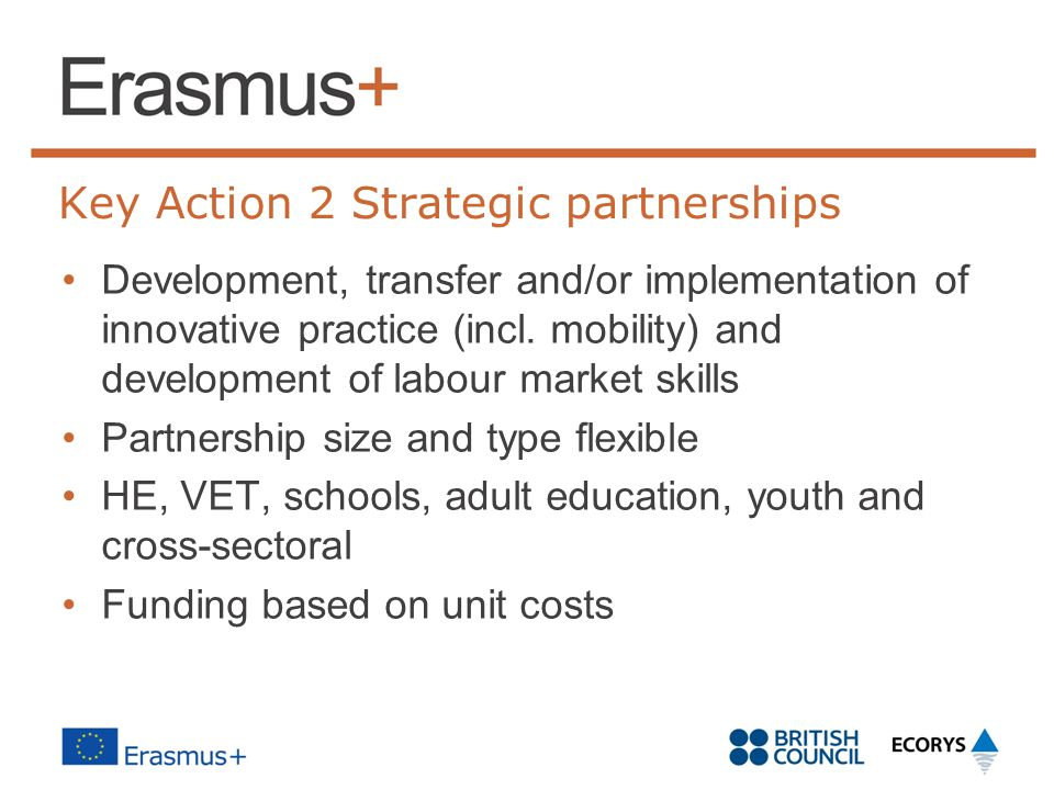 Key Action 2 Strategic partnerships