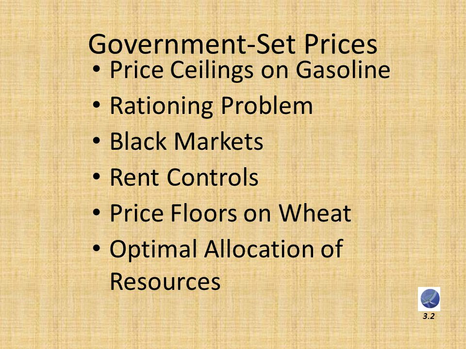 Government-Set Prices