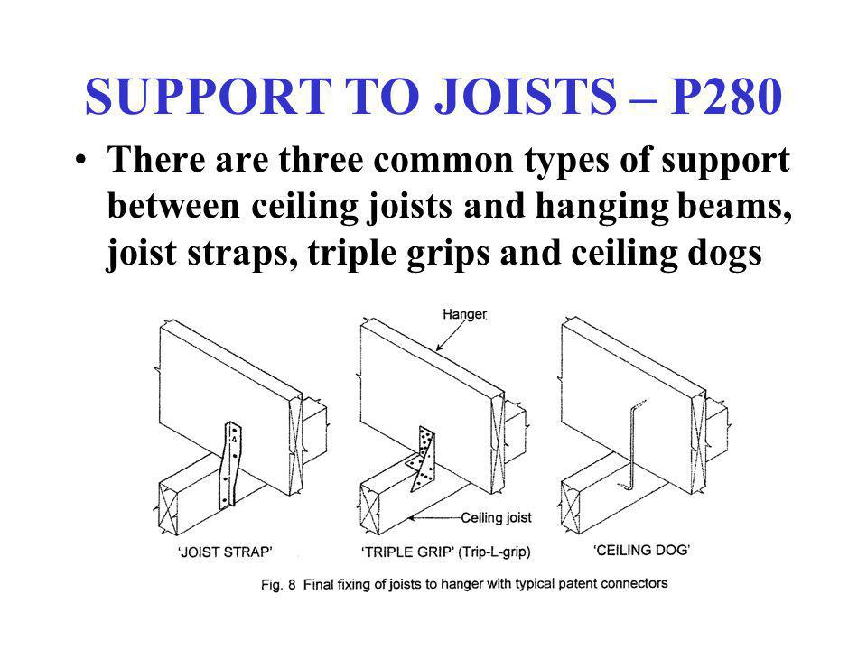 SUPPORT TO JOISTS – P280