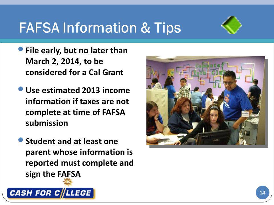 FAFSA Information & Tips