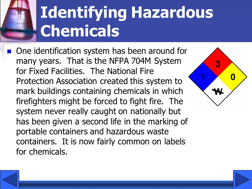Identifying Hazardous Chemicals