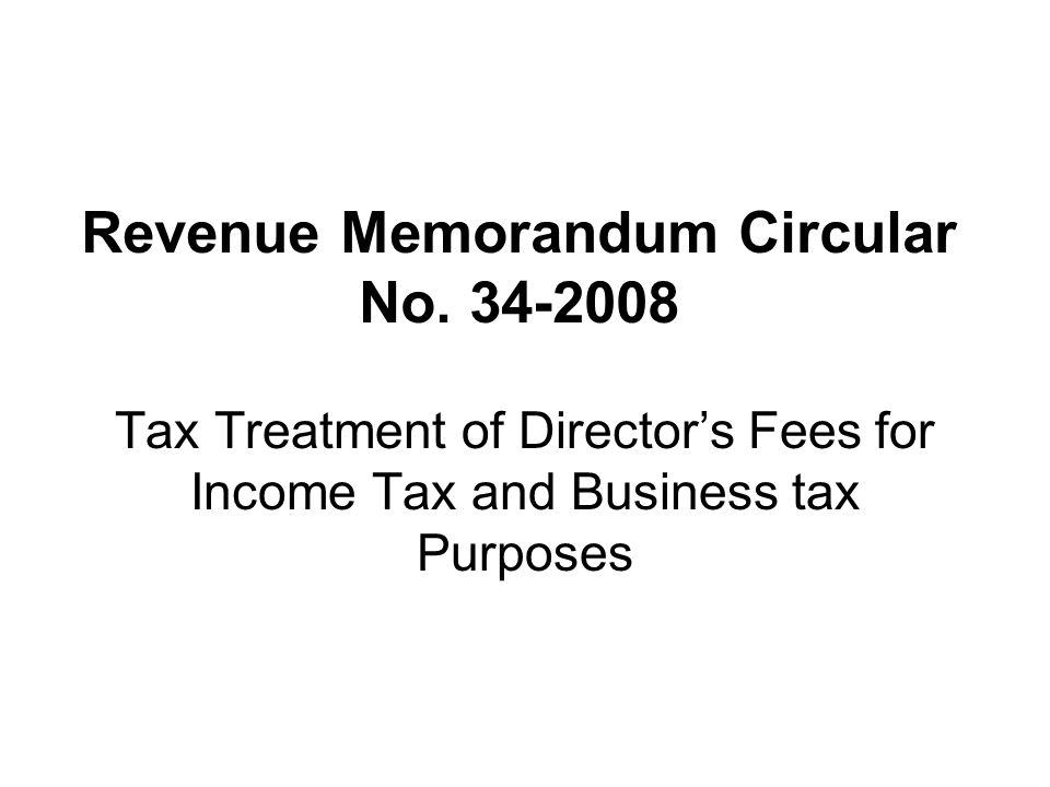 Revenue Memorandum Circular No. 34-2008