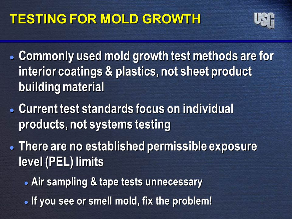 TESTING FOR MOLD GROWTH