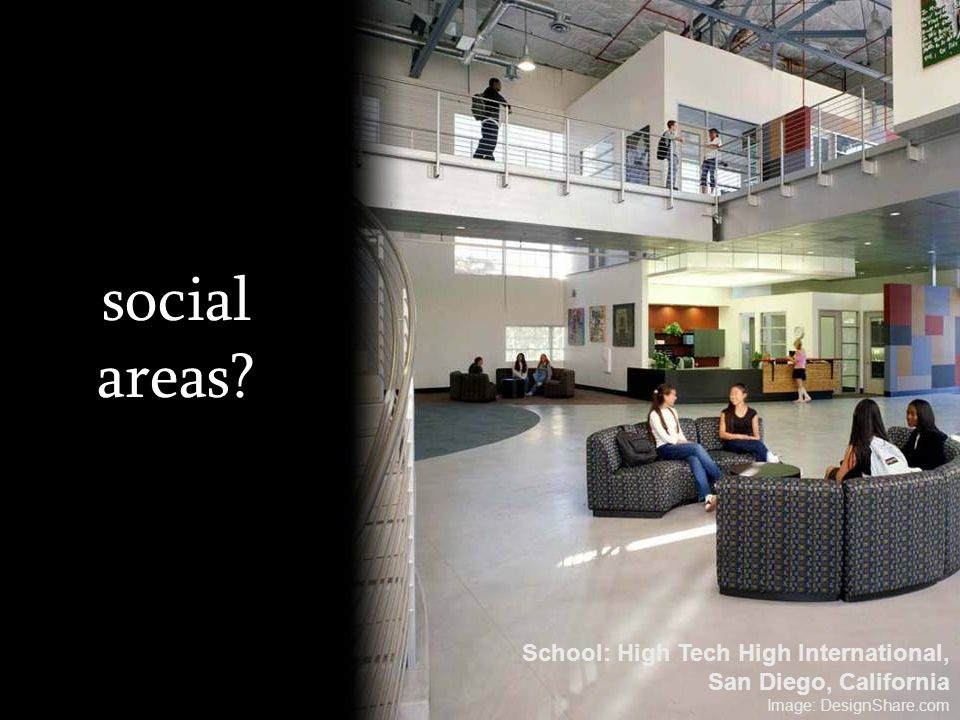 social areas School: High Tech High International,