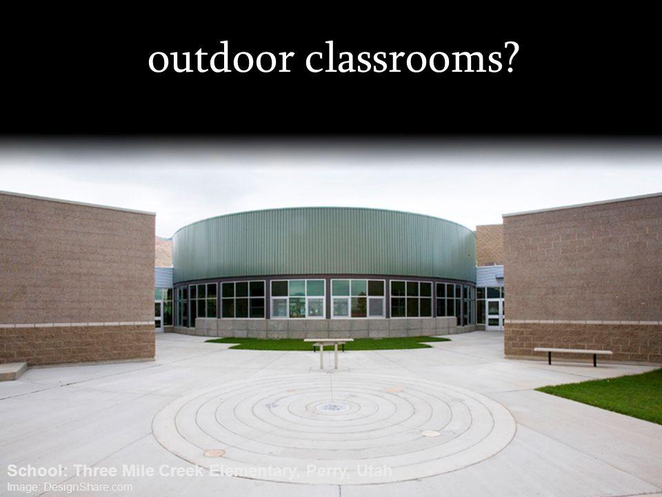 outdoor classrooms School: Three Mile Creek Elementary, Perry, Utah