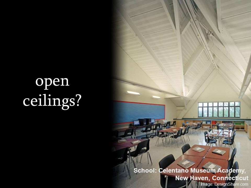 open ceilings School: Celentano Museum Academy,