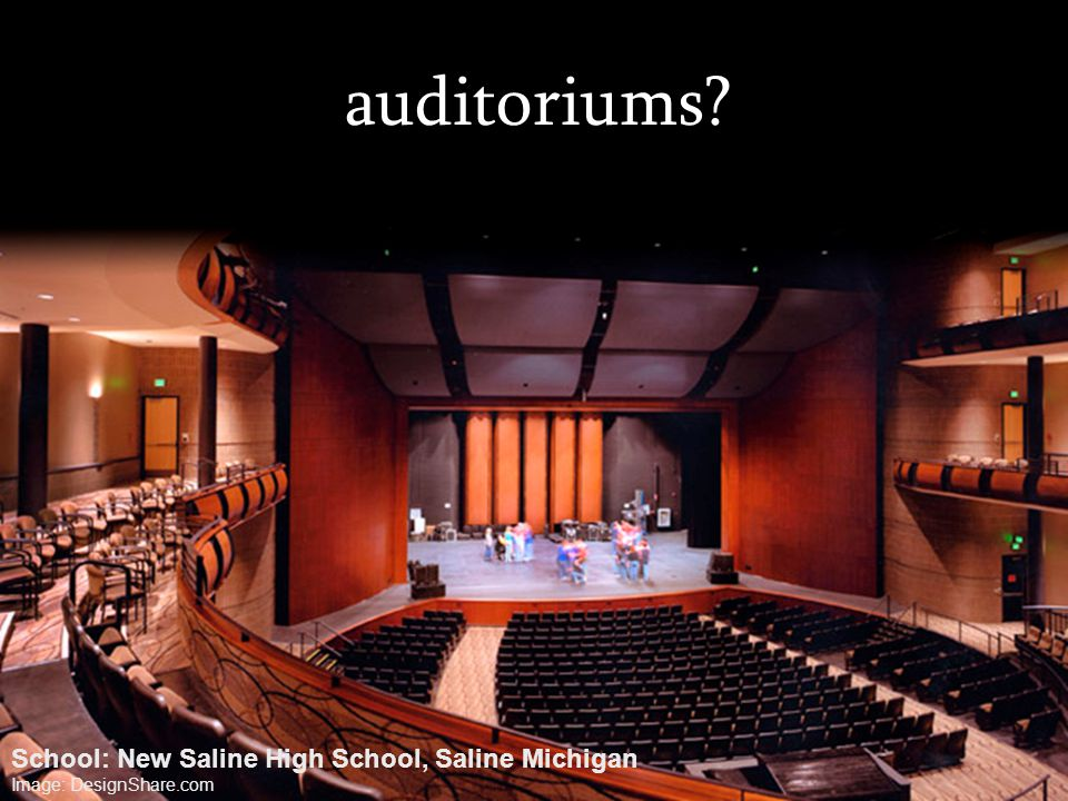 auditoriums School: New Saline High School, Saline Michigan