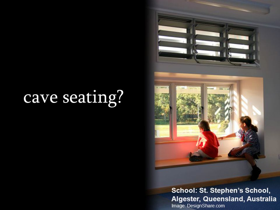 cave seating School: St. Stephen's School,