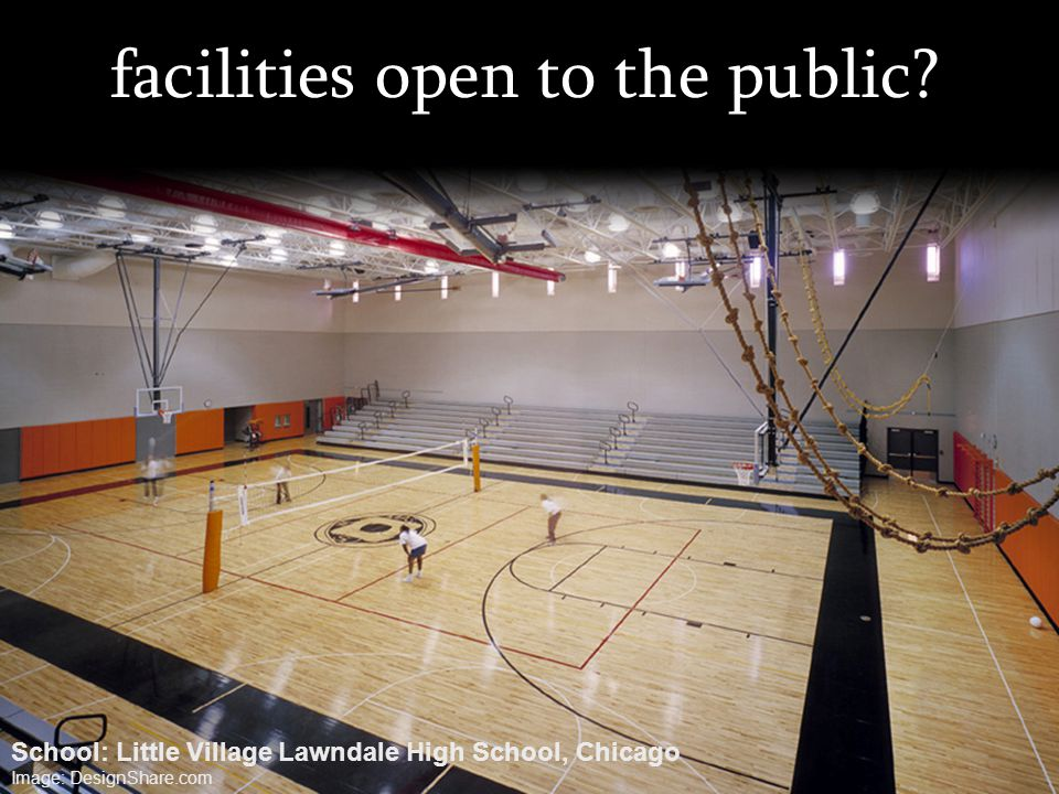 facilities open to the public