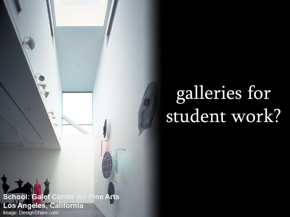 galleries for student work