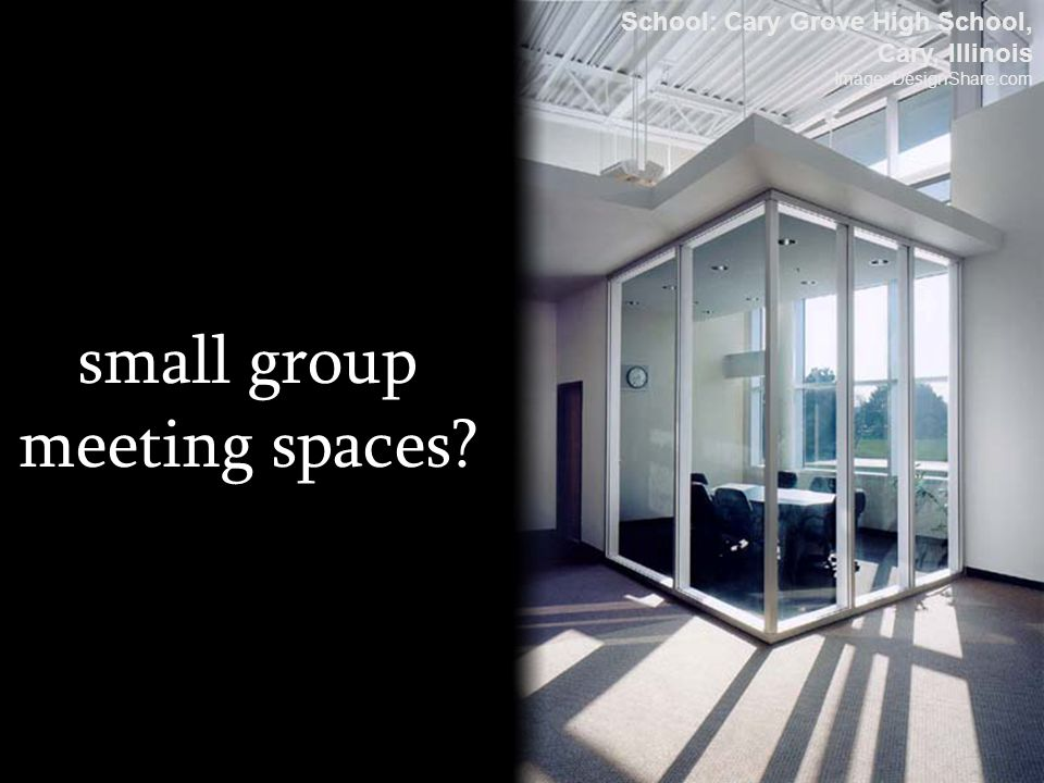 small group meeting spaces