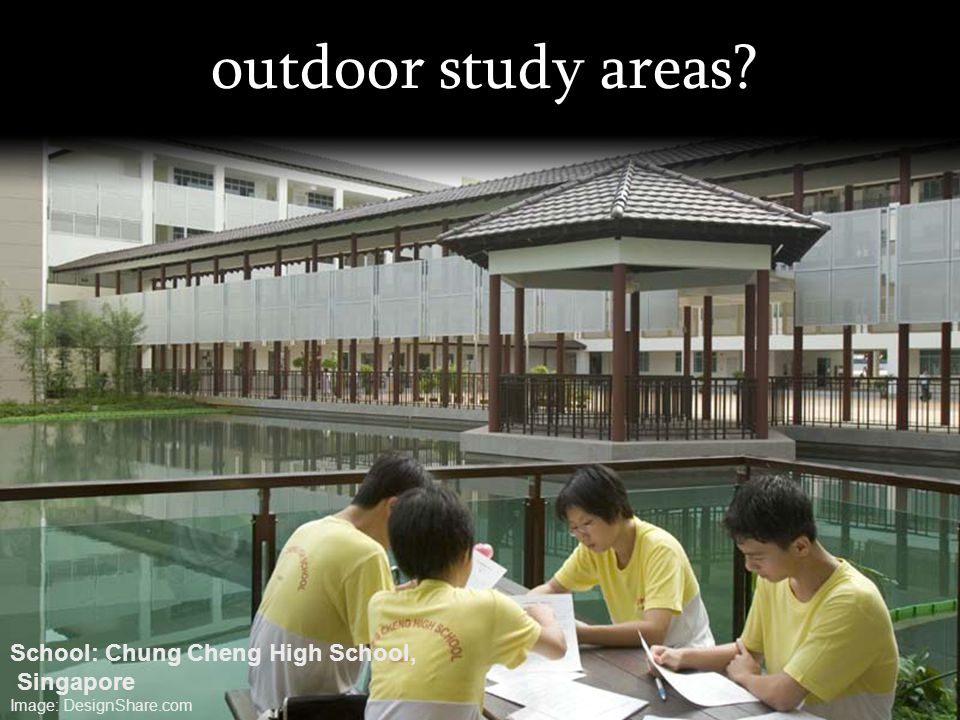 outdoor study areas School: Chung Cheng High School, Singapore