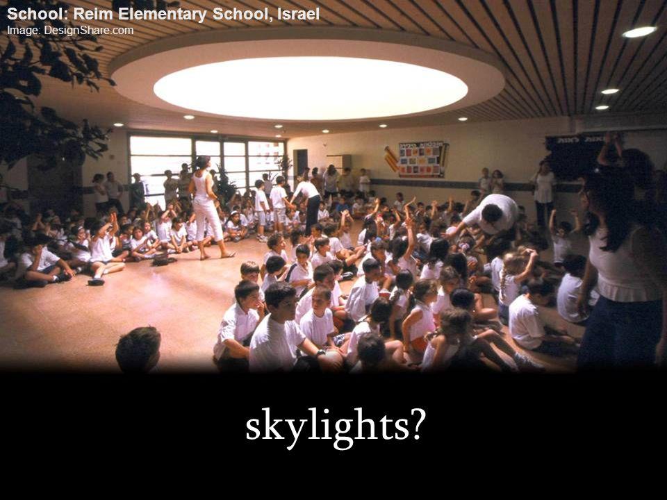 skylights School: Reim Elementary School, Israel