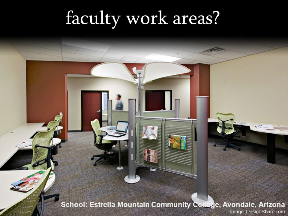 faculty work areas. School: Estrella Mountain Community College, Avondale, Arizona.