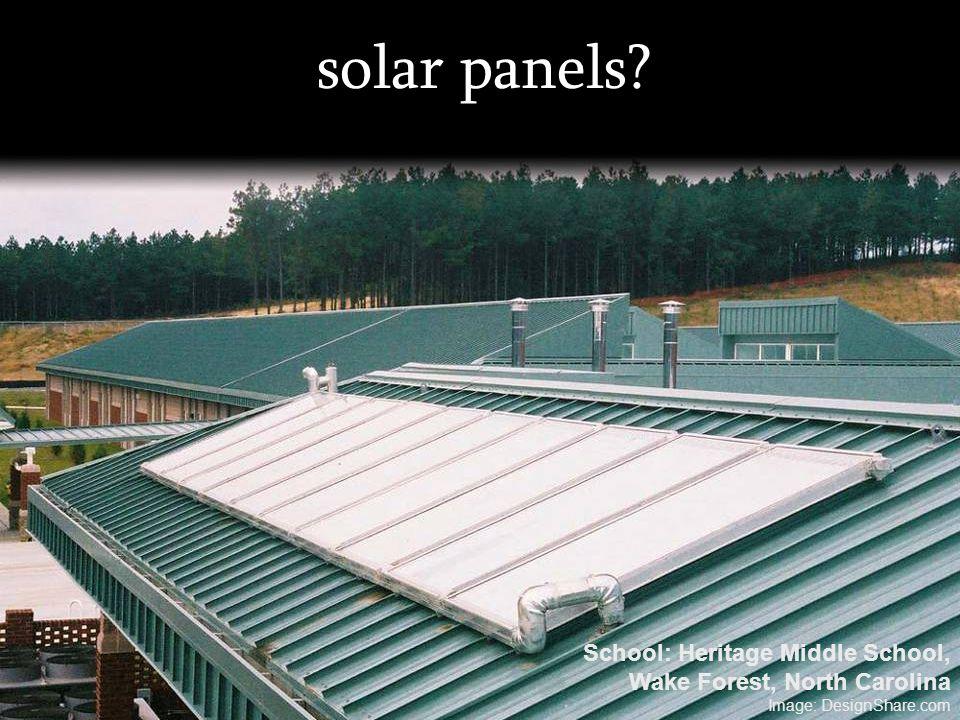 solar panels School: Heritage Middle School,
