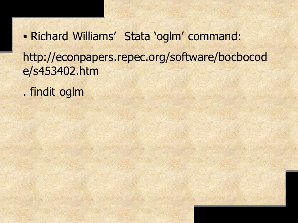 Richard Williams' Stata 'oglm' command: