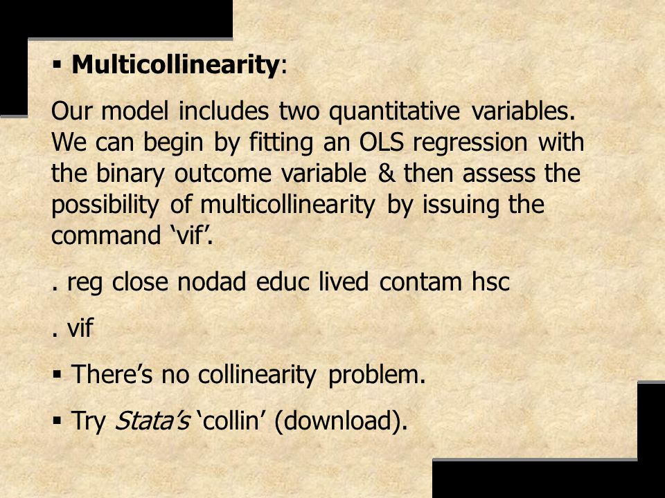 Multicollinearity:
