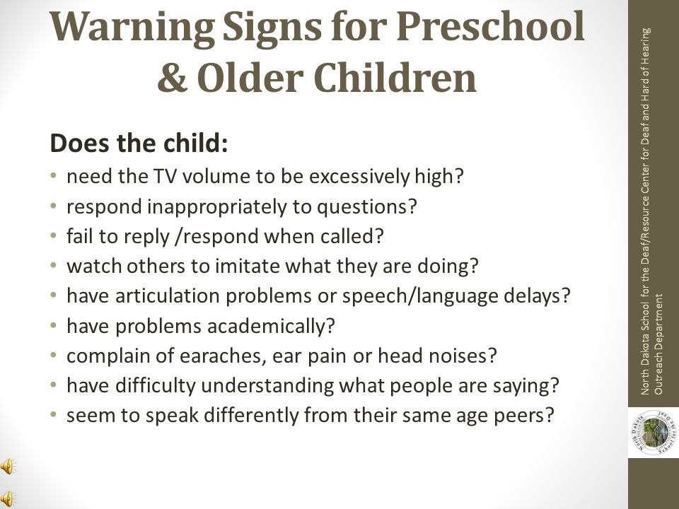 Warning Signs for Preschool & Older Children