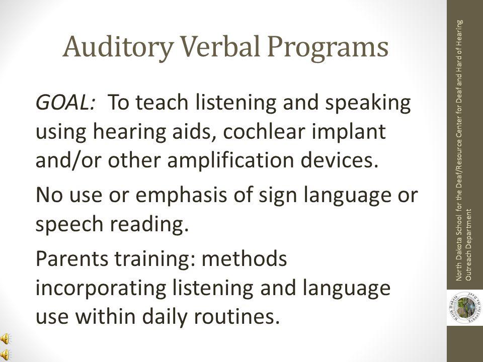 Auditory Verbal Programs