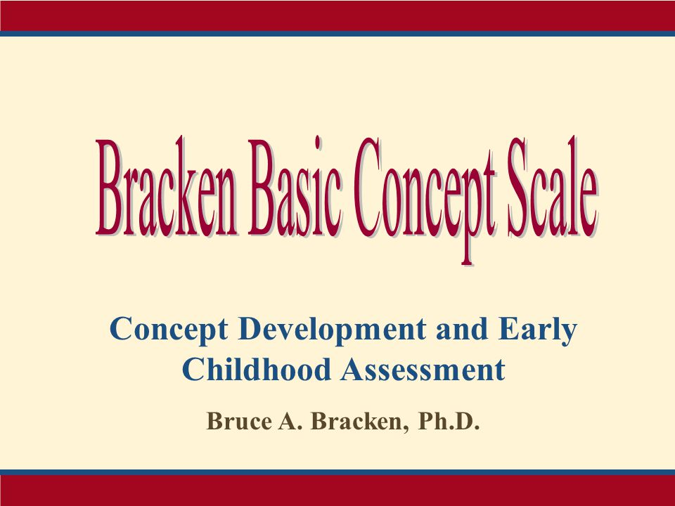 Concept Development and Early Childhood Assessment