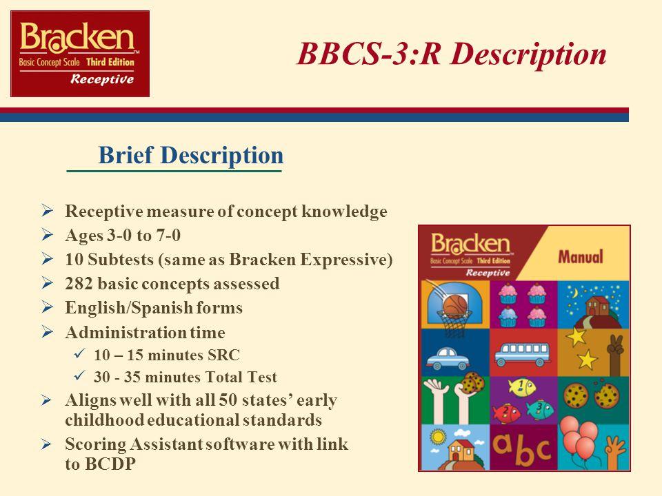 BBCS-3:R Description Brief Description